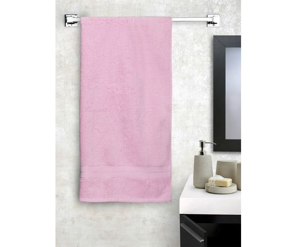 Stellar Home Crystal Collection - Small Pink 1 Piece Bath Towel, GSM - 380 (100% Cotton, 70 x 140 cms)