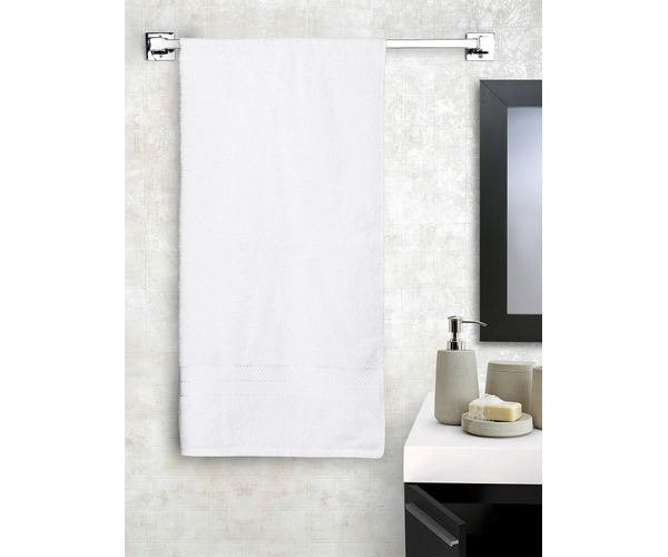 Stellar Home Crystal Collection - Small Optical White 1 Piece Bath Towel, GSM - 380 (100% Cotton, 70 x 140 cms)