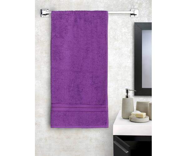 Stellar Home Crystal Plus Collection - Medium Lilac 1 Piece Bath Towel, GSM - 380 (100% Cotton, 75 x 150 cms)