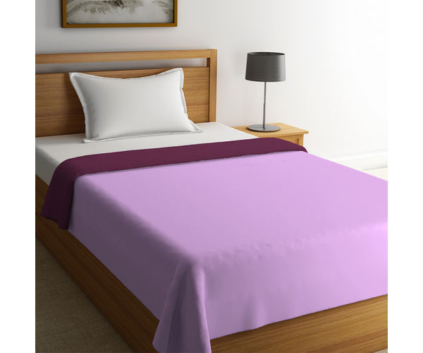 Stellar Home Blockbuster Collection - Sweet Lilac & Rose Wine Single Size Comforter (Super Soft Micro)