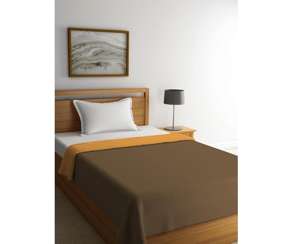 Stellar Home Blockbuster Collection - Ochre & Sepia Single Size Comforter (Super Soft Micro)