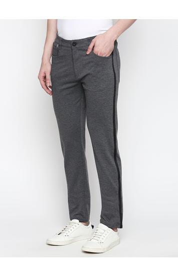 Spykar Black Cotton Slim Fit Trousers (Slim)