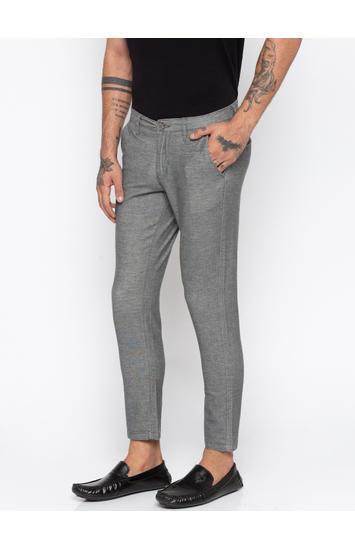 Grey Melange Slim Fit Chinos
