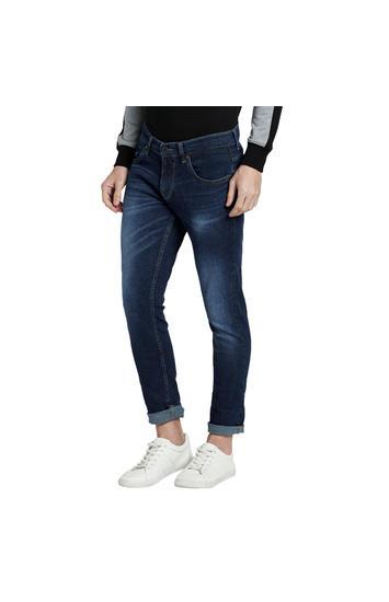 spykar Blue Super Skinny Low Rise Jeans
