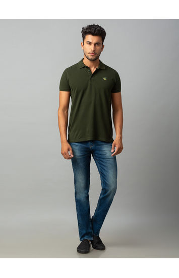 Spykar Blue Cotton Comfort Fit Jeans (Ricardo)