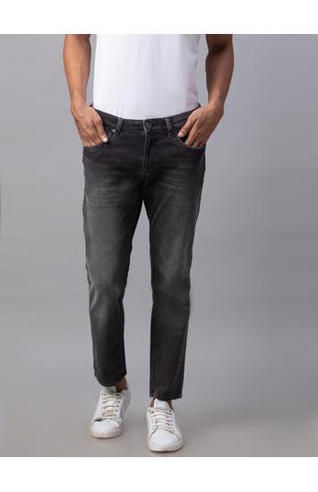 Spykar Black Cotton Slim Fit Jeans (Slim)