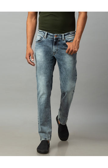 Spykar Grey Cotton Low Rise Regular Fit Jeans (Rover)