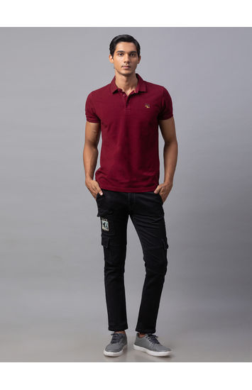 Spykar Black Cotton Slim Fit Jeans (Slim)