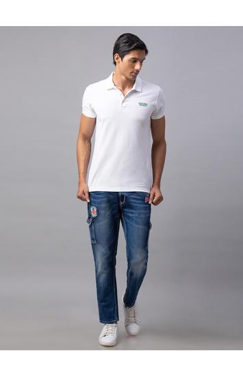 Spykar Blue Cotton Trooper Fit Jeans (Skinny)