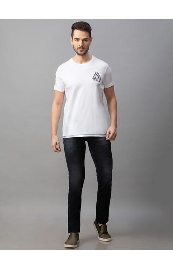Spykar Black Cotton Low Rise Regular Fit Jeans (Rover)