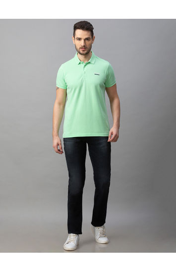 Spykar Black Cotton Comfort Fit Jeans (Ricardo)