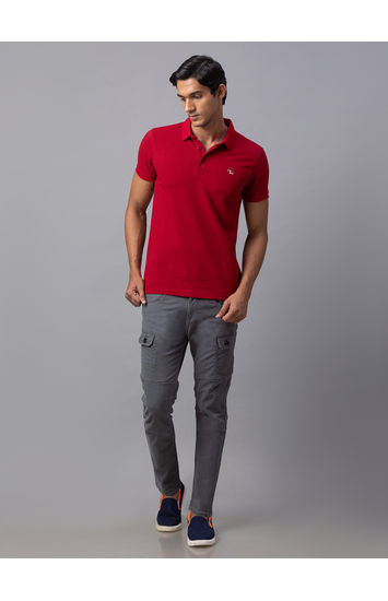 Spykar Grey Cotton Slim Fit Jeans (Slim)