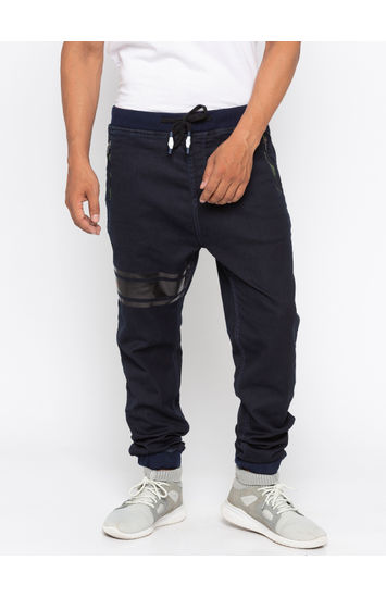 Navy Solid jogger Fit Jeans