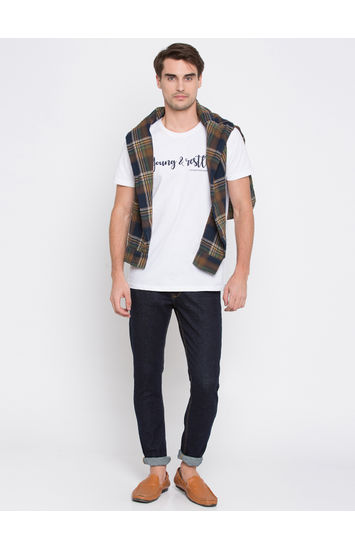 Navy Solid Super Skinny Fit Jeans