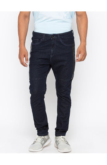 Raw Blue Solid Skinny Fit Jeans