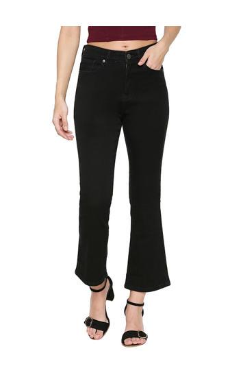 Spykar Black Cotton Boyfriend Fit Jeans (Everett)