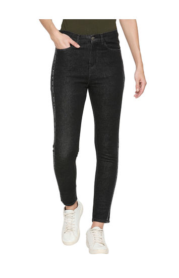 Spykar Black Cotton Low Rise Skinny Fit Jeans (Skinny)