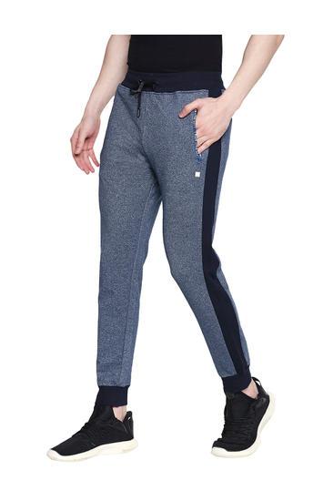 Spykar Blue Cotton Low Rise Gym Jeans Fit Knit Track Pants (Gym Jeans)