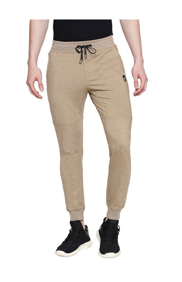 Spykar Khaki Cotton Low Rise Gym Jeans Fit Knit Track Pants (Gym Jeans)