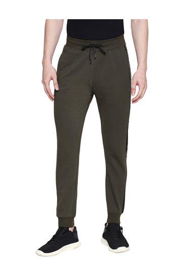 Spykar Green Cotton Low Rise Gym Jeans Fit Knit Track Pants (Gym Jeans)