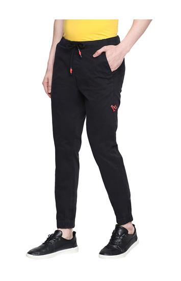 Spykar Black Cotton Low Rise Gym Jeans Fit Trousers (Gym Jeans)