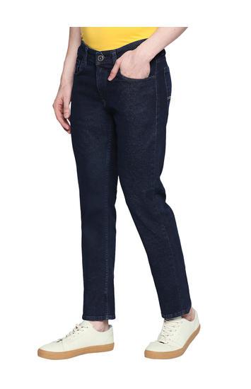 Spykar Blue Cotton Low Rise Regular Fit Jeans (Rover)
