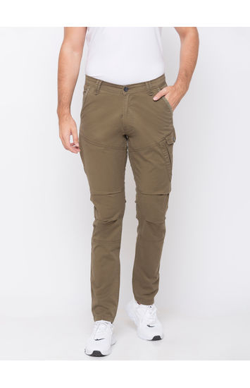 spykar Green Cotton Trousers