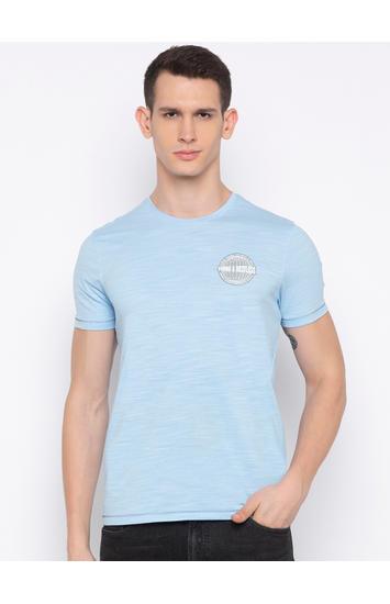 Powder Blue Melange T-Shirt