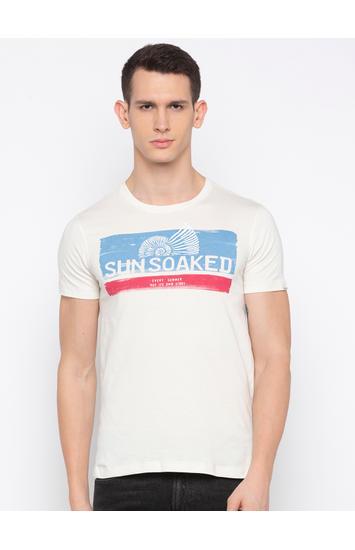 Ecru Printed T-Shirt