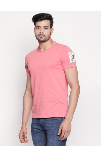Coral Melange Slim Fit T-Shirt