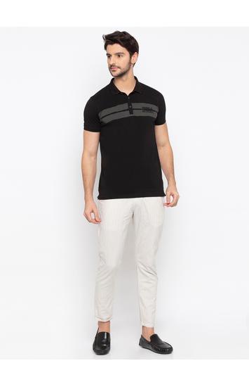 SPYKAR Black Blended Slim Fit T SHIRTS
