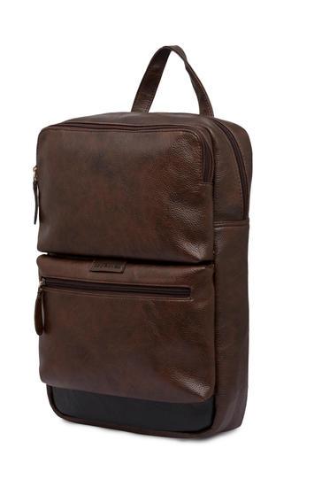 Spykar Brown Polyester Backpack