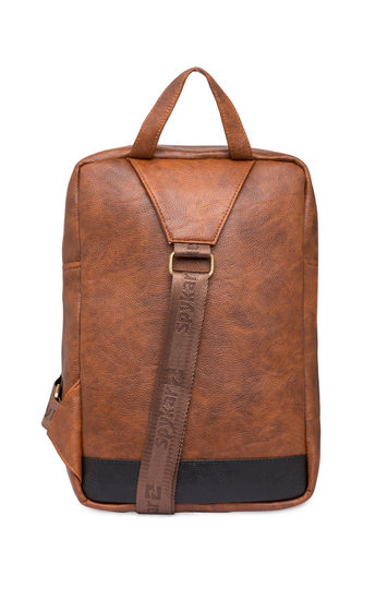 Spykar Tan Polyester Backpack