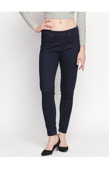 Indigo Solid Skinny Fit Jeans
