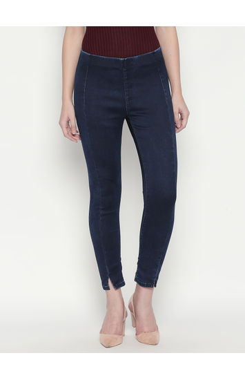 Indigo Solid Slim Fit Jeans