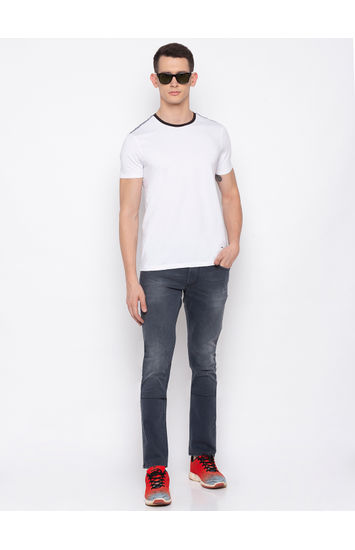 Spykar Dark Grey Solid Skinny Fit Jeans