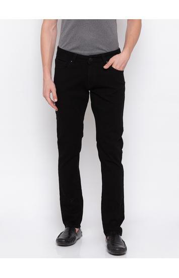 Spykar Black Solid Skinny Fit Jeans