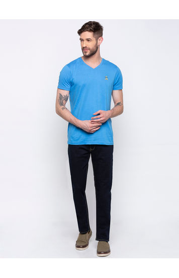 Raw Blue Tapered Jeans