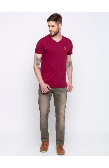 Dark Khaki Tapered Jeans