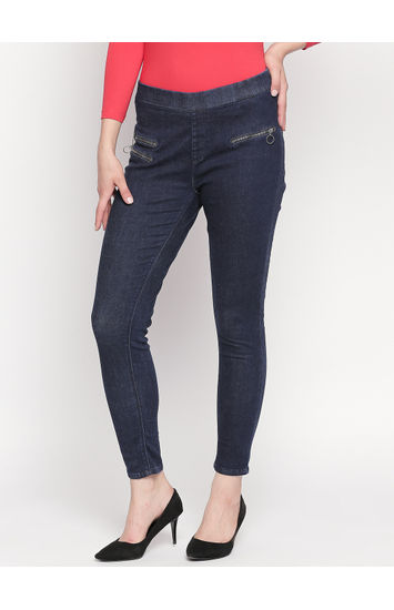 Dark Blue Slim Fit Jeggings