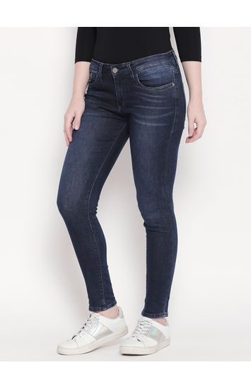 Blue Low-rise Waist Super Skinny Fit Jeans