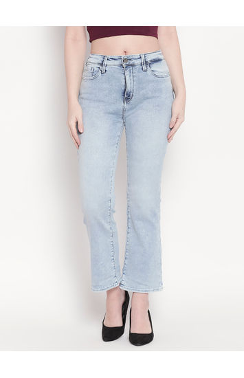 Light Blue High-Rise Bootcut Jeans