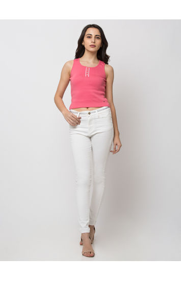Spykar Cotton white JEANS