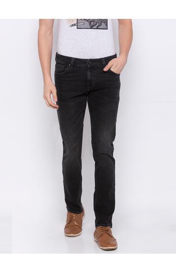 SPYKAR Carbon Black Cotton Skinny Fit JEANS