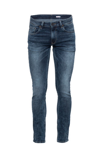 spykar Blue Mid Rise Regular Jeans