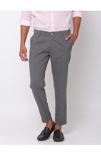 Spykar Ash Cotton Slim Fit Trousers