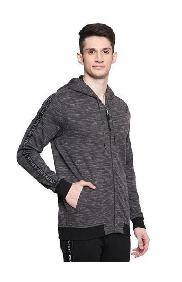 Spykar Cotton Blend Black Sweatshirts