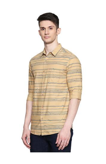 Spykar Cotton Khaki Shirts