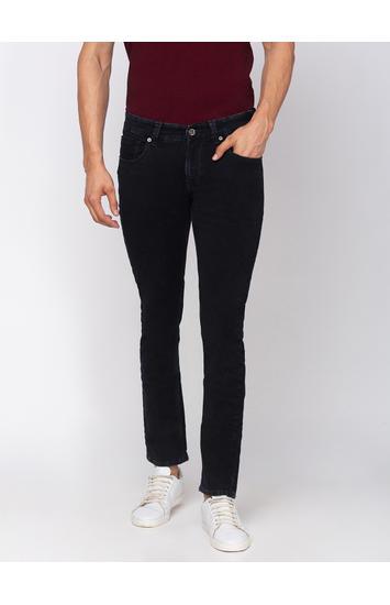 spykar Cotton Black Jeans