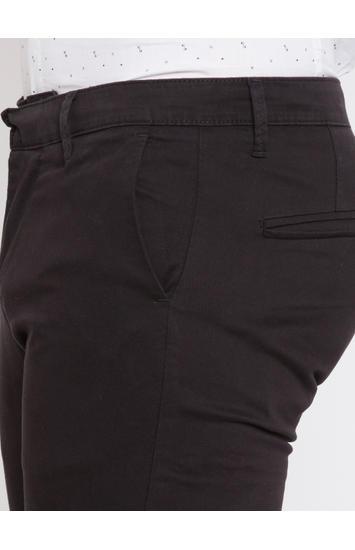 Black Solid Slim Fit Chinos